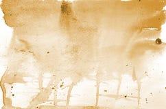 Hand getrokken oranje waterverfvorm voor uw ontwerp Creatieve geschilderde achtergrond, hand - gemaakte decoratie royalty-vrije illustratie