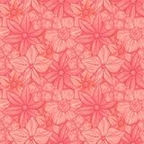 Hand getrokken patroon met decoratief bloemenornament Gestileerde kleurrijke Bloemen De neutrale achtergrond van de de zomerlente Royalty-vrije Stock Foto