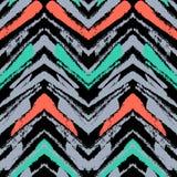 Hand getrokken patroon met geborstelde zigzaglijn. stock illustratie