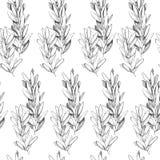 Hand getrokken pen grayscale naadloos patroon royalty-vrije illustratie