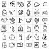 Hand getrokken pictogrammen 004 Stock Afbeelding