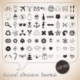 Hand getrokken pictogrammen die voor u worden geplaatst Royalty-vrije Stock Foto's