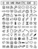 Hand getrokken pictogrammen vectorreeks Royalty-vrije Stock Fotografie