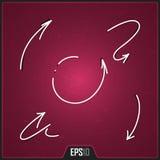 Hand Getrokken Pijlenontwerp Het winkelen markeringen en pictogrammen Digitale Creatieve Pijlenillustratie EPS10 Stock Foto's