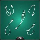 Hand Getrokken Pijlenontwerp Het winkelen markeringen en pictogrammen Digitale Creatieve Pijlenillustratie EPS10 Stock Fotografie