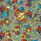Hand getrokken psychedelische illustratie Stock Afbeelding