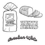 Hand getrokken schets van Canadees Wit brood royalty-vrije illustratie
