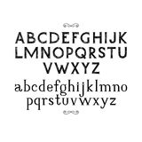 Hand getrokken serif doopvont Royalty-vrije Stock Afbeelding