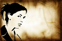 Hand getrokken silhouet van een vrouw Royalty-vrije Stock Afbeelding