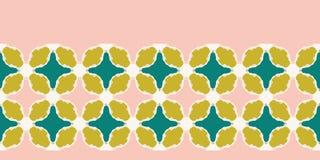 Hand getrokken stammen de grenspatroon van het mozaïekdekbed Vector naadloze achtergrond Illustratie van de symmetrie de geometri royalty-vrije illustratie