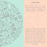 Hand getrokken suikergoedreeks Creatieve vectorillustrarion royalty-vrije illustratie