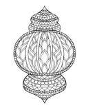 Hand getrokken traditionele lantaarn van Ramadan Stock Fotografie
