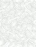 Hand Getrokken Tropisch Palmbladen Vectorpatroon Zacht groen ontwerp Gevoelige Schets Witte achtergrond stock illustratie