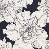 Hand getrokken uitstekend naadloos bloemenpatroon Royalty-vrije Stock Afbeeldingen
