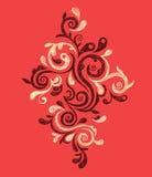 Hand getrokken uitstekend ornament Stock Foto's