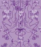 Hand getrokken vector naadloos patroon in Jugendstilstijl royalty-vrije illustratie