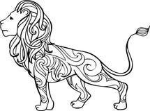 Hand getrokken vector overladen leeuwillustratie Vector Illustratie