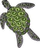 Hand getrokken vector overladen schildpadillustratie Royalty-vrije Illustratie