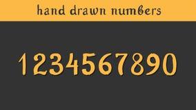 Hand getrokken vectoraantallen stock illustratie