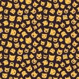 Hand getrokken vectoremoticons naadloos patroon van eps10 royalty-vrije illustratie