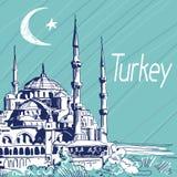 Hand getrokken vectorillustratie Turkije Royalty-vrije Stock Foto's
