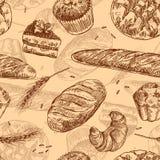 Hand getrokken vectorillustratiebakkerij stock illustratie