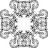 Hand getrokken vectorkrabbelmandala Stock Afbeelding