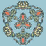 Hand getrokken vectorkrabbelmandala Royalty-vrije Stock Afbeeldingen
