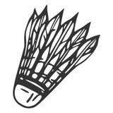 Hand getrokken veershuttle, vectorillustratie Stock Afbeeldingen