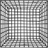 Hand getrokken vierkante futuristische ruimte met onderverdeling Stock Afbeeldingen