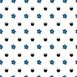 Hand getrokken volks bloemen naadloos patroon vector illustratie