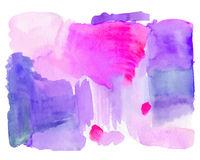 Hand getrokken Waterverf Roze achtergrond Royalty-vrije Stock Foto's