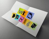 Hand getrokken Webontwerp op kleverige nota Royalty-vrije Stock Afbeeldingen