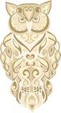 Hand getrokken zentangle uilillustratie Royalty-vrije Stock Afbeelding