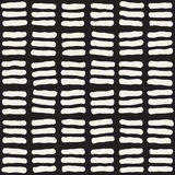 Hand getrokken zwart-wit inkt abstract naadloos patroon Vectorgrungetextuur Zwart-wit geometrische shappesverf Stock Fotografie