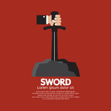Hand Getting The Sword. Vector Illustration Stock Images