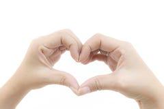 Hand gevormd hart Stock Fotografie