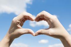 Hand gevormd hart Royalty-vrije Stock Afbeelding