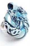 Hand-gewerkte ring Royalty-vrije Stock Afbeelding