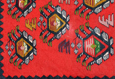 Hand geweven kilim patroon stock foto