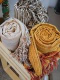 Hand Geweven Sjaals Stock Fotografie