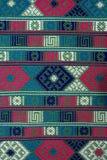 Hand geweven textielachtergrond, Bhutan Royalty-vrije Stock Fotografie