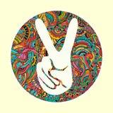 Hand gezeichnet Stockfoto