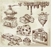 Hand gezeichnet - Schokolade stock abbildung