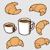 Hand gezeichnet Vektorillustration eingestellt: Hörnchen und Lizenzfreie Stockfotos