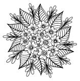 Hand gezeichnet von der Blumenillustration Lizenzfreies Stockbild