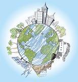 Hand gezeichnet von der Erde Stockbilder