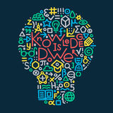 Hand gezeichnete Abbildung Wissen ist Leistung Gestaltungselement für Vektor Abbildung