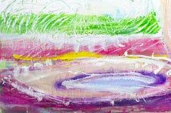 Hand gezeichnete Acrylmalerei Hintergrund der abstrakten Kunst Acrylmalerei auf Segeltuch Farbbeschaffenheit Fragment der Grafik  Lizenzfreie Stockfotos