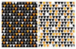 Hand gezeichnete Bastract-Dreieck-Vektor-Muster Halloween-Farben lizenzfreie abbildung